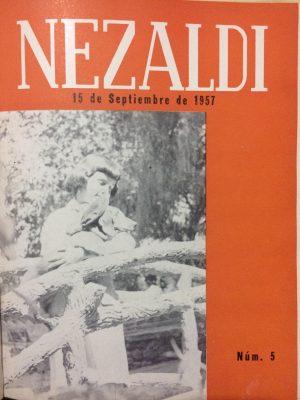 Portada Nezaldi No. 5, septiembre - noviembre 1957